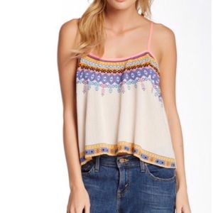 Flying Tomato Boho Print Crop Tank Top